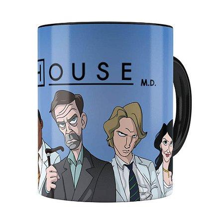 Caneca Dr House v01 Preta