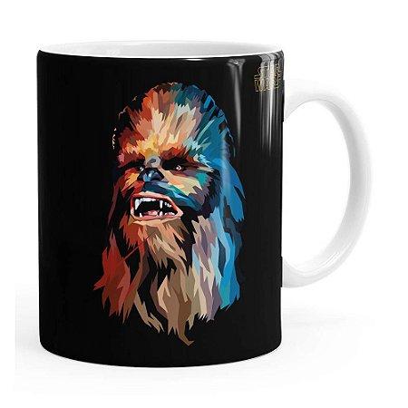 Caneca Star Wars Chewbacca Color Branca