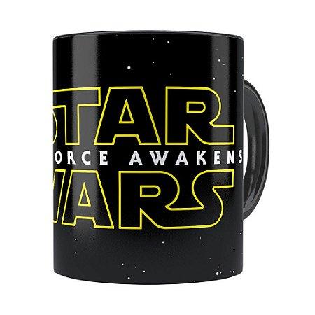 Caneca Star Wars The Force Awakens Preta
