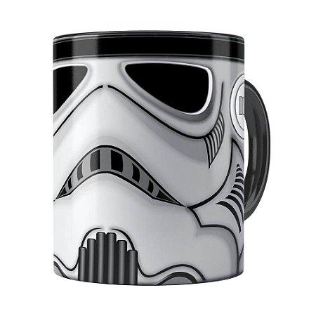 Caneca Star Wars StormTrooper Cinza Preta