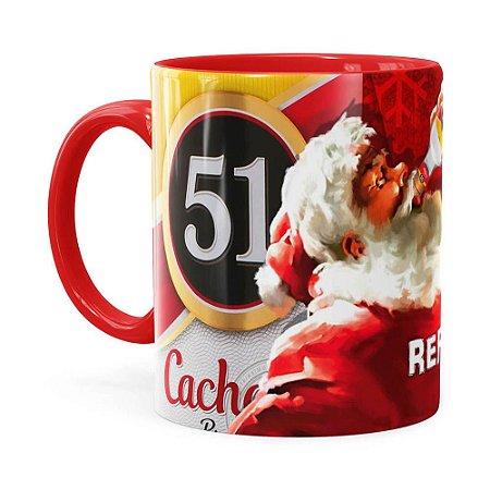 Caneca Natal Cachaça 51 Vermelha