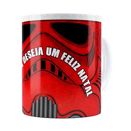 Caneca Star Wars Natal StormTrooper Branca