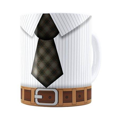 Caneca Pai Gravata Branca