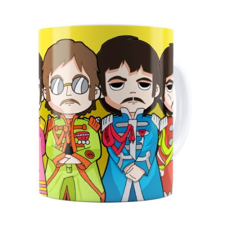 Caneca Beatles Sgt Peppers Lonely Hearts Branca