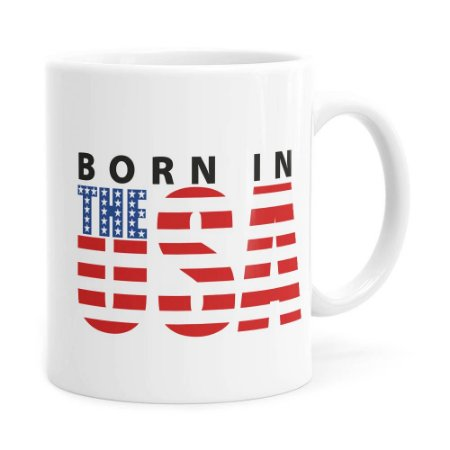 Caneca Born in The USA Branca