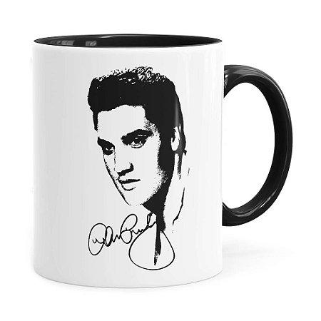 Caneca Elvis Presley Face Preta