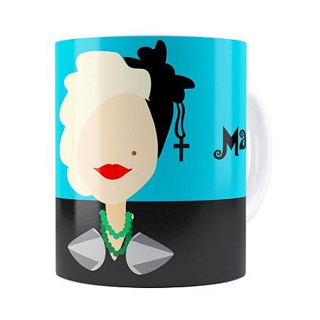 Caneca Madonna Minimalista Branca