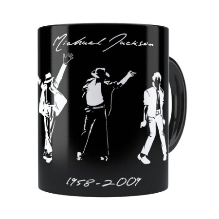 Caneca Michael Jackson Moonwalker e Historia Preta