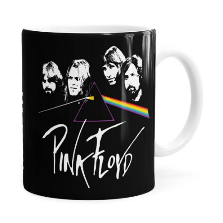 Caneca Pink Floyd The Dark Side of the Moon v02 Branca