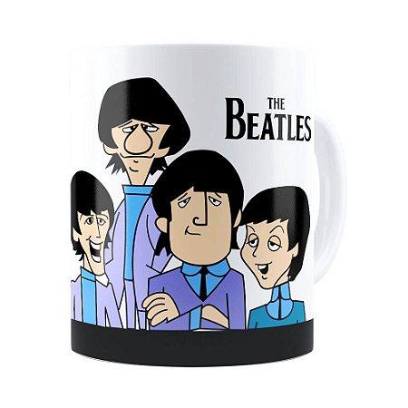 Caneca The Beatles Cartoon Branca