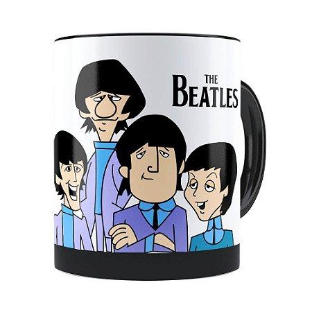 Caneca The Beatles Cartoon Preta