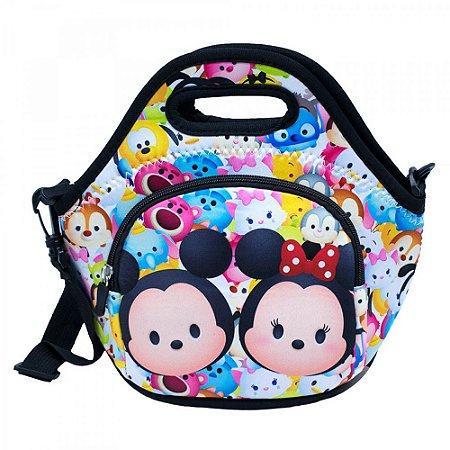 Bolsa Térmica Mickey Minnie Colorida Tsum Tsum
