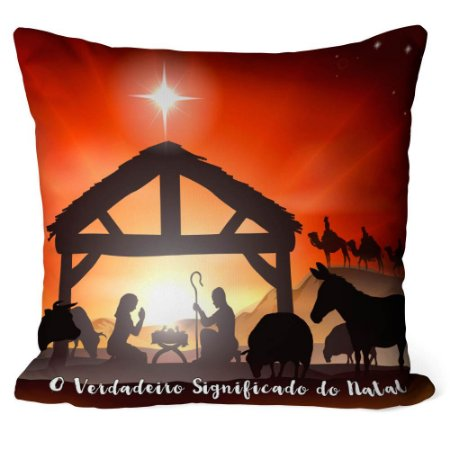 Almofada Natal Nascimento de Jesus v01