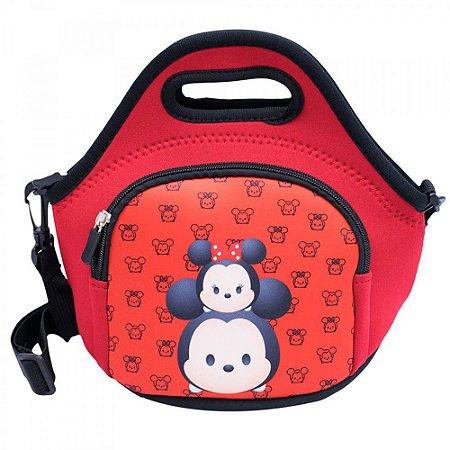 Bolsa Térmica Mickey Minnie Vermelha Tsum Tsum