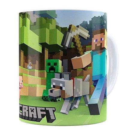 Caneca Minecraft Branca