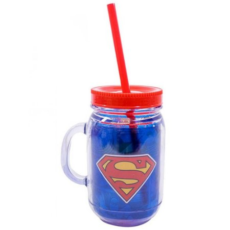 Caneca Jarra Superman com Canudo 420ml