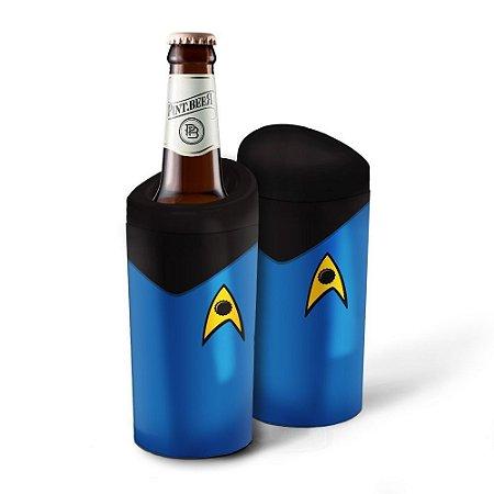 Porta Garrafa Geek Star Trek Azul 600ml