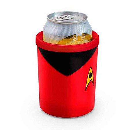 Porta Lata Star Trek Vermelho 350ml