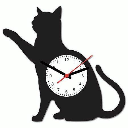 Relógio Geek Gato Preto