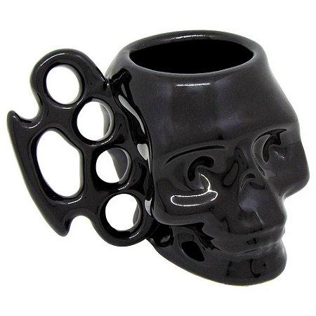 Caneca 3D Caveira Skull Soco Inglês Shape 500ml