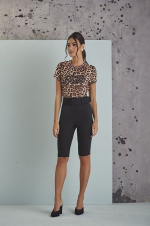 T-SHIRT ANIMAL PRINT CHEIA DE BOSSA