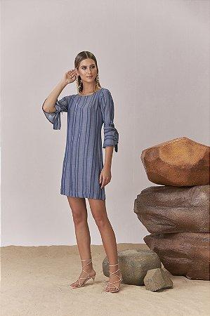 T-DRESS JEANS LISTRADO
