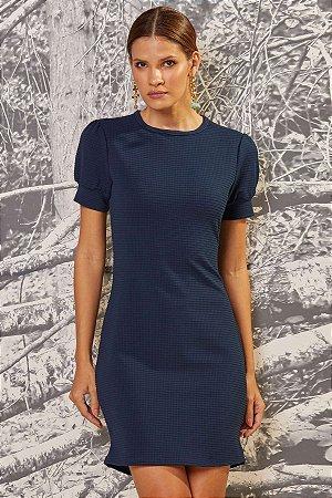 T-DRESS DE MALHA TRABALHADA C/ MANGA FOFA