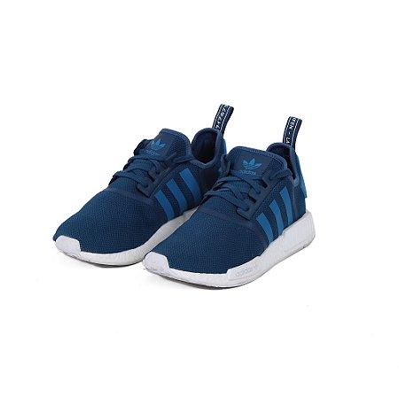 TÊNIS ADIDAS NMD R1 BLUE WHITE - USADO