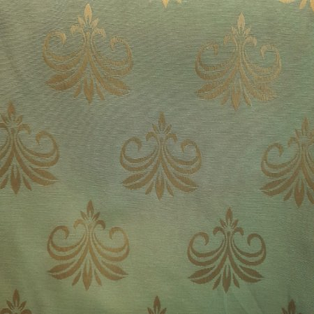 Jacquard Flor de Lís Verde Tiffany 2,80m de Largura