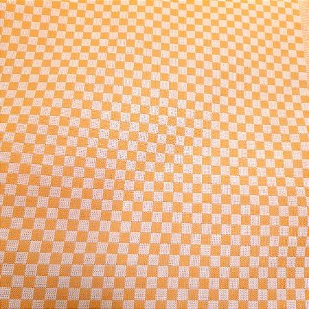 Tecido Xadrez 100% Algodão para Bordar Amarelo 1,40mt de Largura