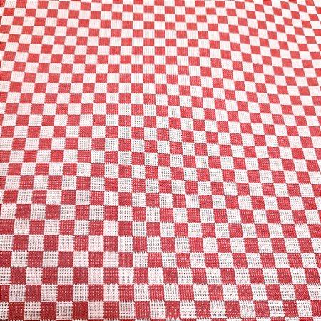 Tecido Xadrez 100% Algodão para Bordar Vermelho 1,40mt de Largura