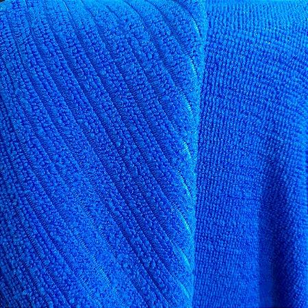 Atoalhado Microfibra Canelado Azul Royal 1,40mt de Largura