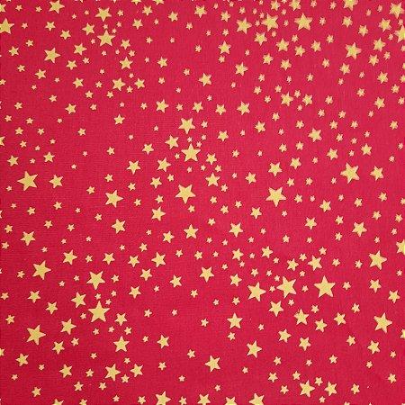 Tricoline Estampado Estrelas 1,50mt de Largura