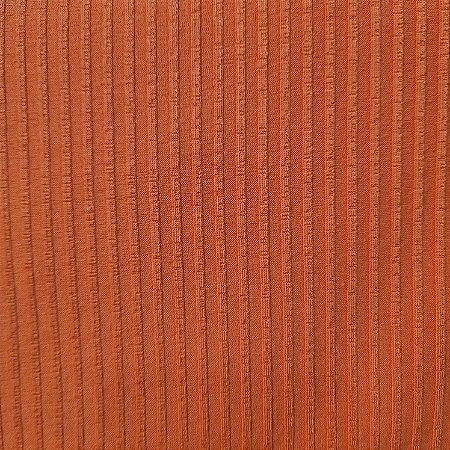 Malha Canelada de Viscose Cor Terracota 1,30mt de Largura