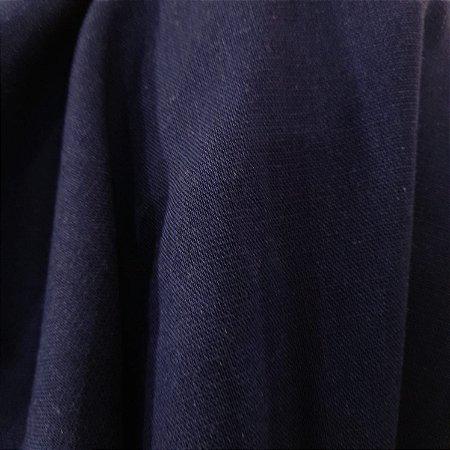 Linho Misto com Elastano Azul Marinho 1,40mt de Largura