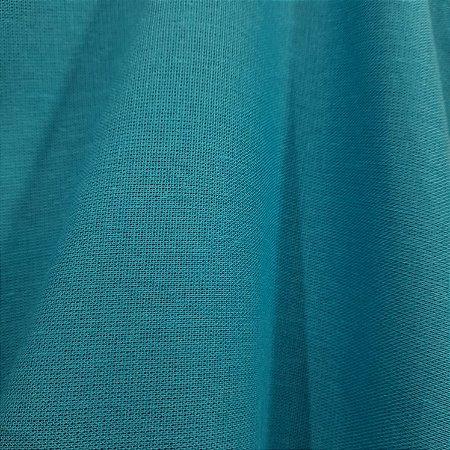 Linho Misto com Elastano Azul Turquesa 1,40mt de Largura