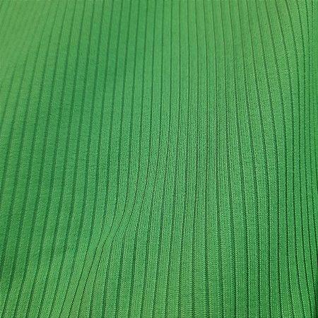 Malha Canelada Cor Verde Lima 1,50mt de Largura