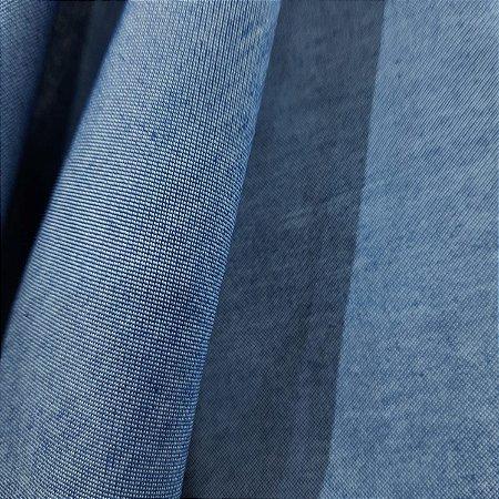 Camisaria Chambray Jeans Marinho 1,50mt de Largura