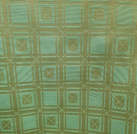 Jacquard Quadriculado Verde Tiffany 2,80mt de Largura