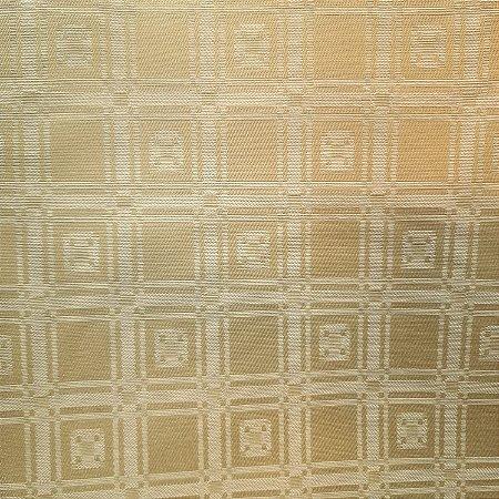Jacquard Quadriculado Bege Ouro 2,80mt de Largura