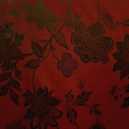 Jacquard Floral Marsala 2,80mt de Largura