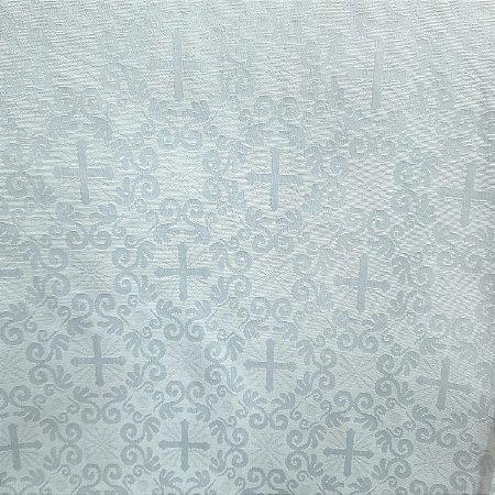 Jacquard Tema Litúrgico Branco 2,80mt de Largura