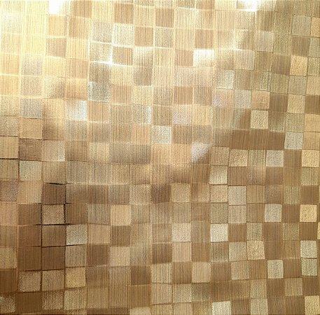 Plástico Térmico 200 Metalizado Quadriculado Dourado 1,40mt de Largura