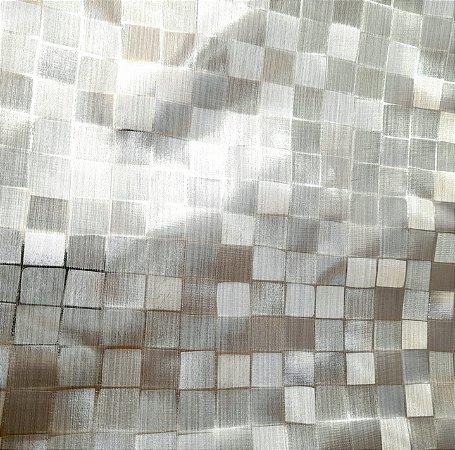 Plástico Térmico 200 Metalizado Quadriculado Prateado 1,40mt de Largura