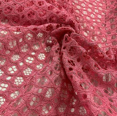 Renda Rope Lace cor Vermelho Ocre 1,50mt de Largura