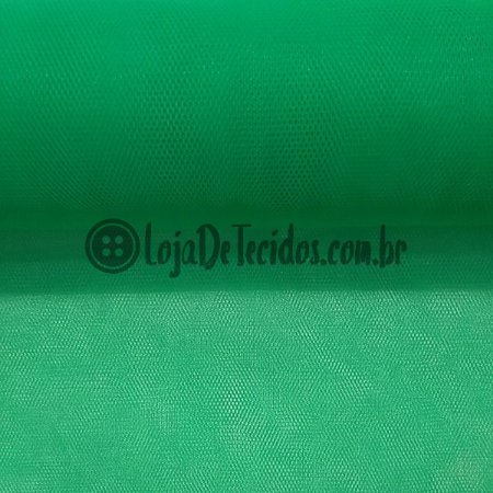 Tule Liso Verde Floresta 2,40m de Largura