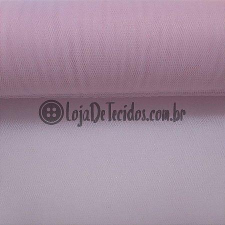 Tule Liso Rosa 2,40m de Largura