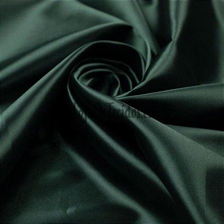 Cetim Liso Verde Musgo 1,47m de Largura