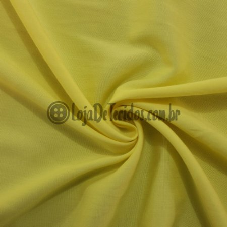 Viscose com Elastano Liso Amarelo Bebê 1,42m de Largura