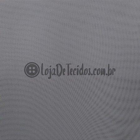 Voil Transparente Cinza 3mt de Largura